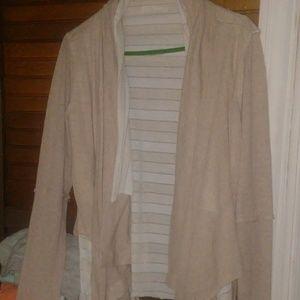 A layered cardigan